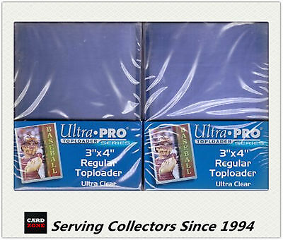 """Ultra Pro 3""""x4"""" Regular NEW Top Loaders Pack Of 25 x 2 packs-Soccer cards"""