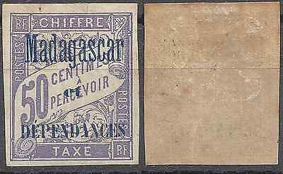 France Colonie Madagascar Timbre Taxe N°6 Neuf * Gomme D'origine Cote 18€
