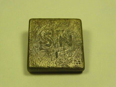 Ancient Bronze Weight Byzantine Engraved Letters 400 - 600 A.d.
