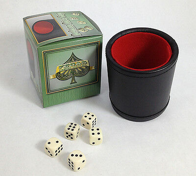 VEGAS GAMING SUPPLIES DELUXE Bar Style DICE CUP With 5 Dice FREE SHIPPING *