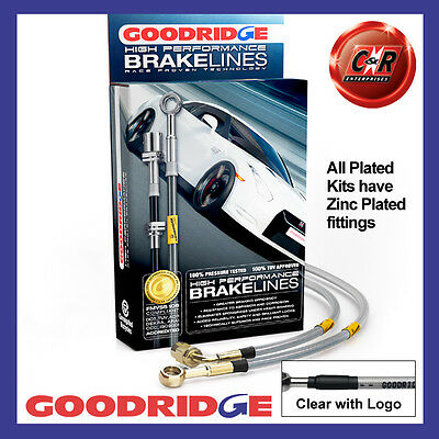 Opel Kadett C (Disc/Drum) 77-79 Goodridge Plated CLG Brake Hoses SOP0200-3P