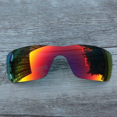 New Fire Red polarized Replacement lenses for-Oakley Batwolf