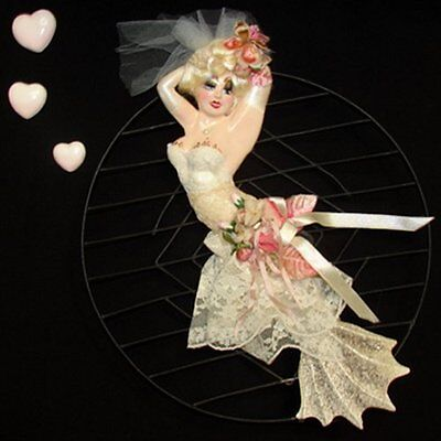 Vintage DIVA MERMAID Wall Plaque - UNIQUE One of a Kind!!!