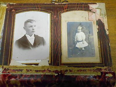 Old / Antique ROUGH Photo Album With Some Pictures