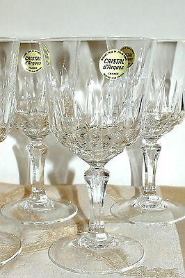 CRISTAL D'ARQUES ST GERMAIN WATER GOBLET (6) available price for one  EXC