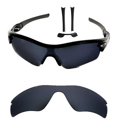 New (Dark Grey) Black  Replacement lenses for-Oakley Radar Path with nose pad