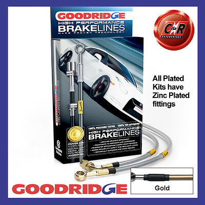 Peugeot 406 All inc Coupe 95-04 Goodridge Zinc Gold Brake Hoses SPE1150-4P-GD
