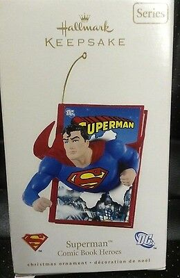 NIB 2008 HALLMARK ORNAMENT SUPERMAN COMIC BOOK HEROES FIRST IN THE SERIES 1st