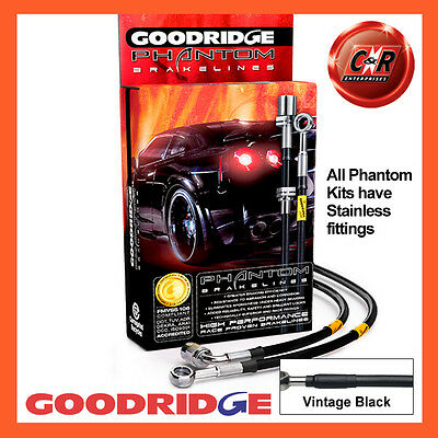 VW Golf MK7 GTI and R only 13 on Goodridge SS V.Black Brake Hoses SVW0630-4C-VB