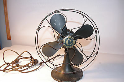 Antique Vintage Electric Table Fan Marked C