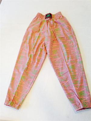"VINTAGE 80s * 90s ""Dare to Wear"" Baggy Pink Blue Green ADULT X-SMALL JR LRG"