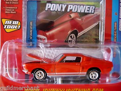 Johnny Lightning 1968 SHELBY GT-500 Calypso Coral '68 Shelby Cobra GT500 Mustang