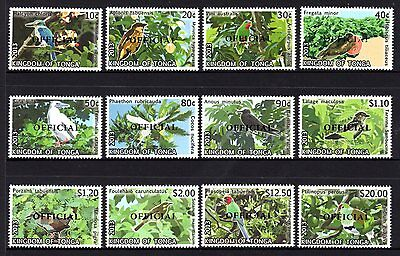 Tonga 2013 Birds O/P OFFICIAL Set 12 MNH