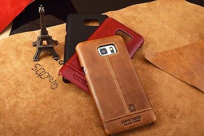 Pierre Cardin Vintage Genuine Leather Hard Back Case Cover For Samsung Note 4、5
