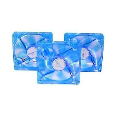 Apevia CF312SL-UBL 120mm UV Blue LED Cooling Fan 3 in 1 pack
