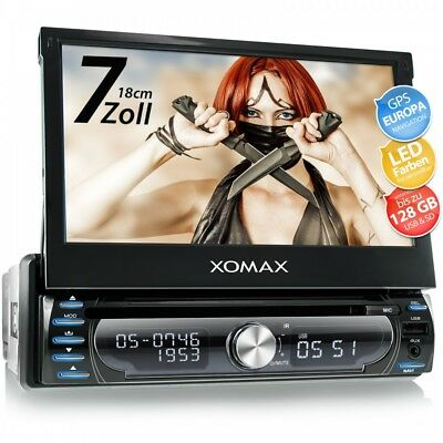 Autoradio Mit Navi Gps Navigation Bluetooth Touchscreen Dvd Cd Usb Sd Mp3 1Din