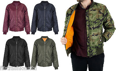 Mens Soul MA1 Bomber Military Army Flight Biker Jacket Coat Star Security Zip Up
