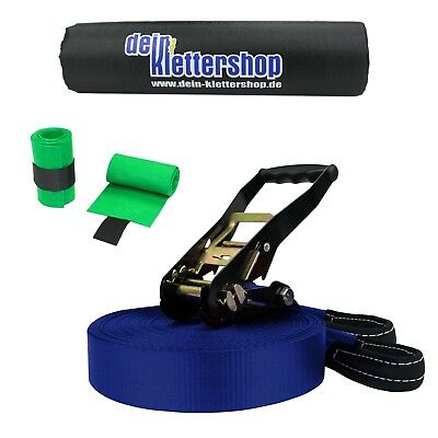 (1,47€/1m) Slackline SET 5tlg 30 m SURFLINE Waterline TRICKLINE Treesaver 3t