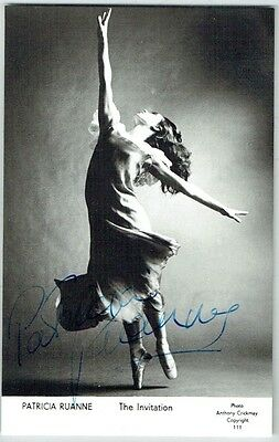 Patricia Ruanne, English Ballerina - Hand Signed Autograph Photograph.