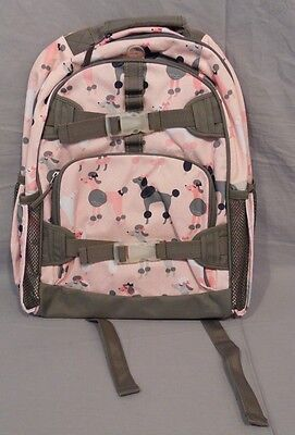Pottery Barn Kids Gray Poodle Mackenzie Large Backpack School Bag