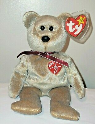 Ty Beanie Baby ~ 1999 SIGNATURE Bear ~ MINT with MINT TAGS ~ RETIRED