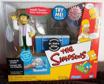 Simpsons Exclusive DR NICK OFFICE  interactive box set Figure Playmates