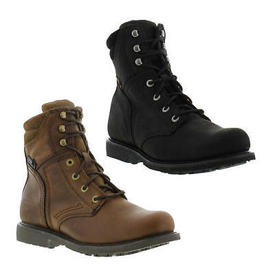 Harley Davidson Darnel Mens Leather Lace Up Zip Motorcycle Biker Boots Size 7-12