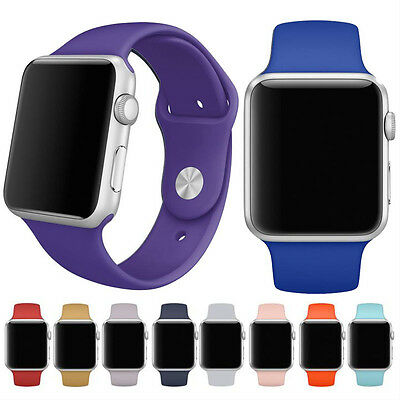 Sports Silicone Bracelet Strap Band For Apple Watch 38mm/42mm Orologio cinturino