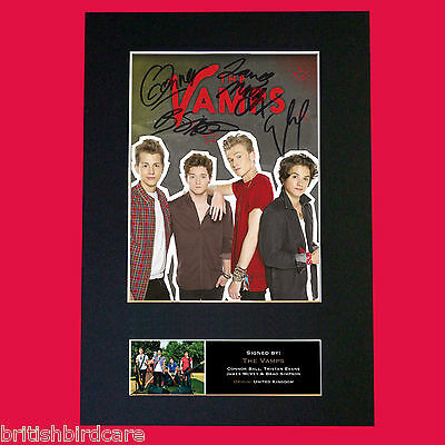 THE VAMPS No2 Signed Autograph Quality Mounted Photo Repro A4 Print No603