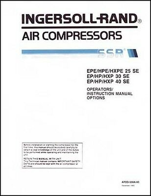 gardner denver electra screw air compressor service manual 35 00 rh picclick com Environmental Manual Manual Valve Operators