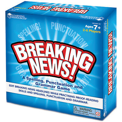 Learning Resources Breaking News Board Game NEW