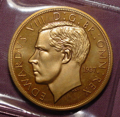 1937 KING EDWARD VIII MODEL CROWN - Low Mintage - Gold Coloured Alloy