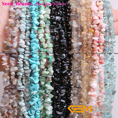 """Wholesale Freeform Gemstone Chips Beads For Jewelery Making 34"""" 5-8mm Beads"""