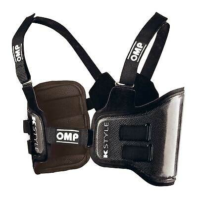 OMP KS K Style Carbon Kart/Karting Rib/Chest Protector/Waistcoat Black - Medium