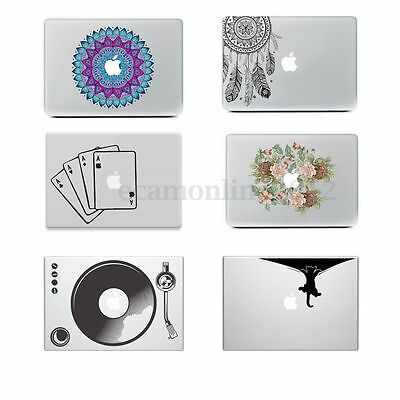 Coloré Peau Autocollant Sticker Vinyle Déco Pr MacBook 11'' 12'' 13'' 15'' 17''