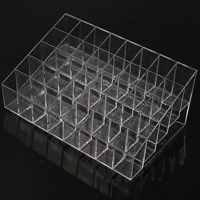 Hot 40 Trapezoid Makeup Display Lipstick Stand Case Cosmetic Organizer Holder Q