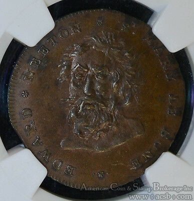 Conder Token Great Britain-Middlesex 1795 MS64 BN NGC DH#390 1/2 Penny Neeton's.