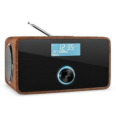Auna Dabstep Digital Radio Digitale Bluetooth Rds Sveglia Bassreflex Mp3 Noce