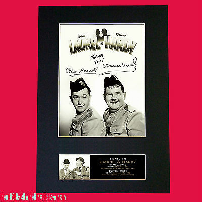LAUREL & HARDY No2 Quality Signed Mounted Autograph Photo Print (A4) No593