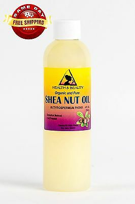 Shea Nut Oil Organic African Karite Oil Carrier Cold Pressed 100% Pure 4 Oz