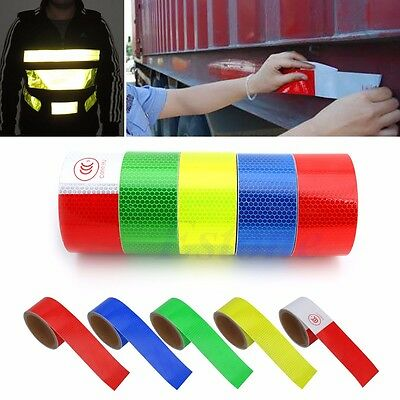 "2""X10' 3M Reflective Safety Warning Conspicuity Tape Film Sticker Multicolor New"