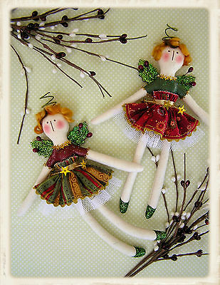 CHRiSTMAS ANGELS || Cloth Doll Pattern + Wings || UP iN ANNiE'S ROOM!