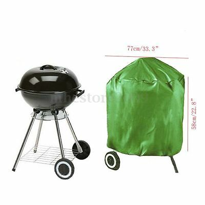77 x 58cm Round Waterproof BBQ Cover Outdoor Garden Barbecue Grill Protection