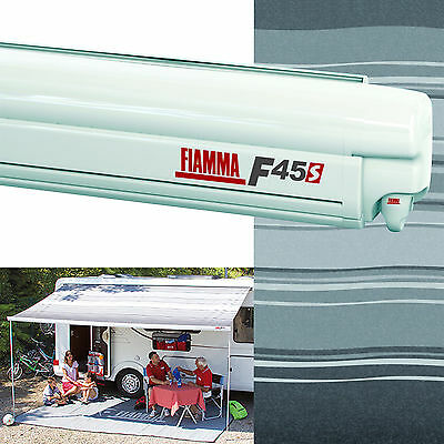 Fiamma F45 S Awning Polar White Case 3.5M Deluxe Grey Canopy Motorhome