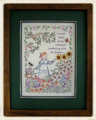 WHiLE AWAY THE HOURS || Stitchery Pattern & Buttons || UP iN ANNiE'S ROOM!