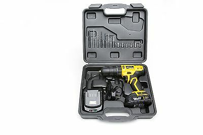 Wolf 2 Speed 18v Lithium Ion Combi Impact Drill Kit 1 Hour Charge
