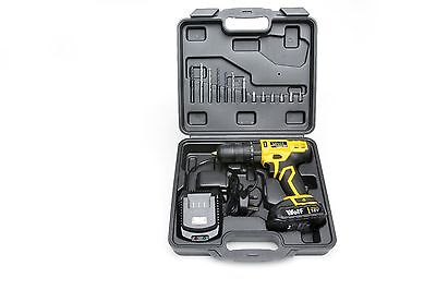Wolf Combi Impact Drill Screwdriver 2 Speed 18v Lithium Ion Li-Ion 1 Hour Charge