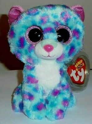 """Ty Beanie Boos - SYDNEY the 6"""" Claires Exclusive Leopard ~ 2015 NEW MINT IN HAND"""