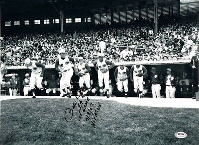 Pete Rose Hand Signed 12X16 First Game Photo With Proof