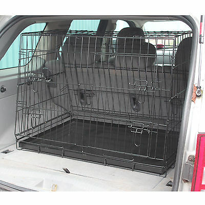 Car Boot Folding Metal Pet Cage With Sloping Single/twin Design Dog/puppy Guard